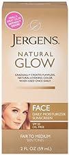 Jergens Glow Face Daily Moisturizer Sunscreen SPF 20 Fair