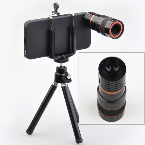 8X Zoom Telescope Camera Lens Kit + Tripod + Case For Apple Iphone 5 5G