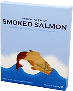 Amazon.com : Pacific Alaska Smoked Wild Salmon, 3-Ounce Boxes (Pack of ...