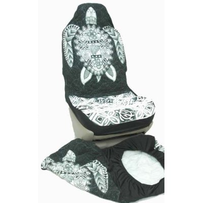 seat covers accessories hawaiian car seat covers gray big turtle set of 2 front bucket seat. Black Bedroom Furniture Sets. Home Design Ideas