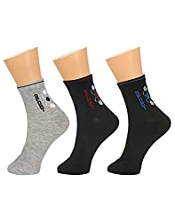 Gumber Pack of 3 Pairs of Multicoloured Solid Ankle Length Socks(GE_LONGSPORTS_1_3PC)