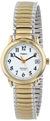 Timex Womens T2H491 Easy Reader Two-Tone Expansion Band Watch