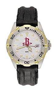 Houston Rockets All Star Mens (Leather Band) Watch by NBA Officially Licensed