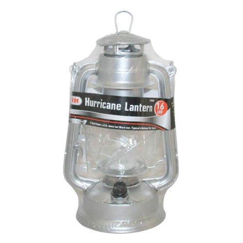Illinios Industrial Tool 16 Led Hurricane Lantern, Silver