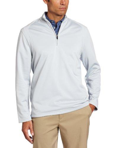 PGA TOUR Men's 1/4 Zip Tech-fleece Mix Media Jacket, Pearl Blue, X-Large
