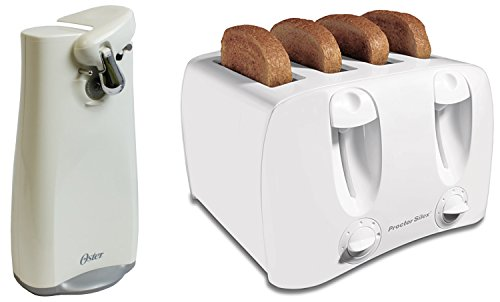 Proctor Silex 24605Y 4 Slice Toaster + Oster 3151 Electric Can Opener Combo Pack