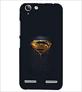 PrintDhaba Superman Logo D-2010 Back Case Cover for LENOVO A6020a46 (Multi-Coloured)