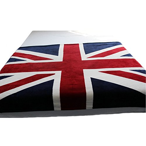 Echolife Thicker Bed Blanket: Super Soft Warm Air Conditioning Throw Blanket for Bedroom Living Rooms Sofa (UK Flag) (British Bedding Queen compare prices)