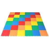 "Ewonderworld Non-Toxic Extra Thick Rainbow Wonder Mats, 36 Pieces, 12"" X 12"" X ~9/16"" (5 Colors)"