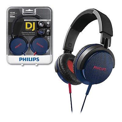 Philips Shl3100Bl Blue Dynamic Solid Bass 1500Mw Foldable Dj Stereo Headphones