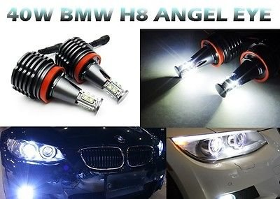 2X Bmw 40W Cree Led Angel Eye Halo Light H8 Bulb E90 E92 E60 E70 X5 E71 X6 M E82