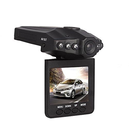 Btopllc-On-Dash-Videokamera-mit-25-Zoll-LCD-Display-mit-6-LED-Leuchten-Trger-Videokamera-Recorder-Auto-Fahrenvideorecorder-mit-IR-USB-Slot-Lade