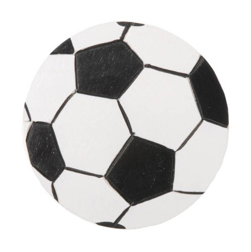 Darice 9199-56 Layered Natural Painted Wood Cutout, Soccer Ball
