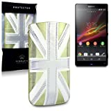 Sony Xperia ZL Terrapin Branded Premium PU Leather Pocket Case / Cover / Pouch - Gold Union Jackby TERRAPIN