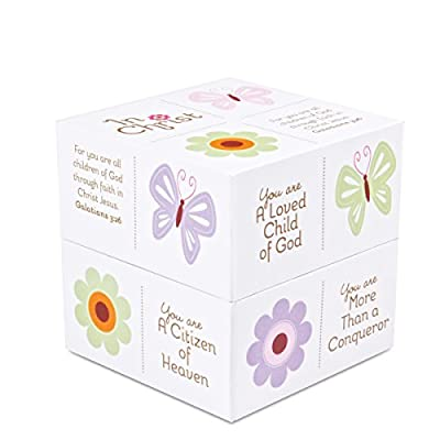 Lighthouse Christian Products In Christ Butterfly Scripture Box, 3 1/4 x 3 1/4 x 3 1/4""