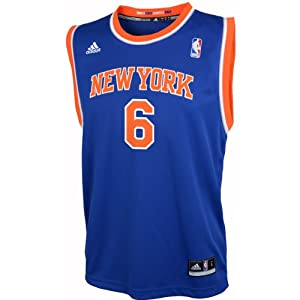 NBA Adidas New York Knicks Tyson Chandler Revolution 30 Youth Blue Jersey Extra Large... by adidas