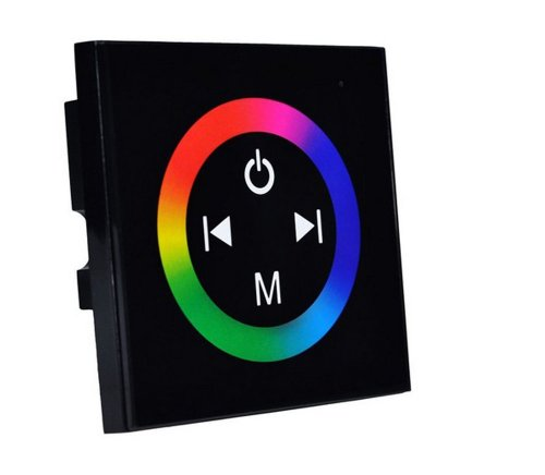 Siga®Touch Panel Led Rgb Controller Rainbow Color Ring Dc12V-24V Diy Led Controller For Rgb Led Light Strip Lamp