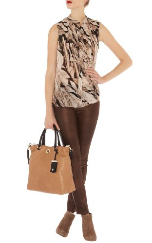 Brown Leather Look Jean
