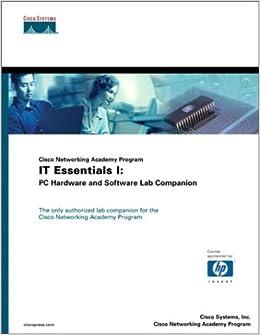 Cisco Networking Academy Program It Essentials I Pc