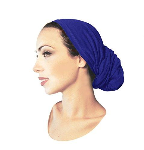 Pre-tied Headwear Versatile Ties Royal Blue Bandana Tichel Head-scarf ...043 (Pre Tied Tichel compare prices)