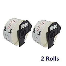 2 Packs Label roll Compatible for Brother DK-1208 (1.4 in x 3.5 in ,38 mm x 90.3 mm) With Cartridge & Free Cable Wire Winder