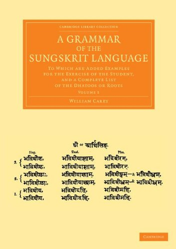 A Grammar of the Sungskrit Language: To Which Are Added Examples for the Exercise of the Student, and a Complete List of the Dhatoos or Roots ... from the Royal Asiatic Society) (Volume 1) PDF