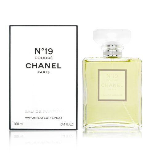 LuxuryFragrance discount duty free New with Box CHANEL_No 19 Poudre Eau De Parfum Spray 3.4 Fl OZ / 100ml