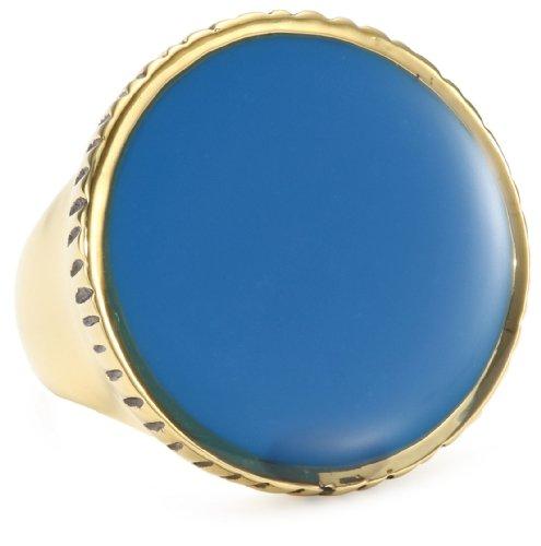 Jenny Bird Blue Resin Round Ring, Size 7