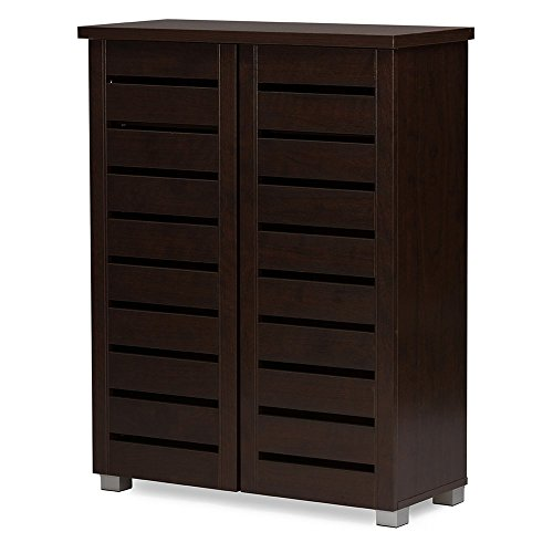 Baxton Studio Warren Shoe Storage Cabinet – Easy Home Organizer
