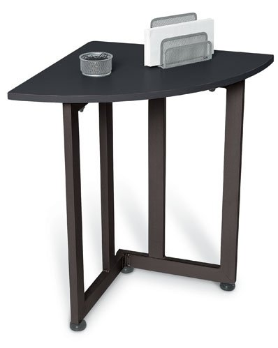 OFM 55107-GRAPHITE & BLACK Quarter Round Table/Telephone Stand-Graphite and Black
