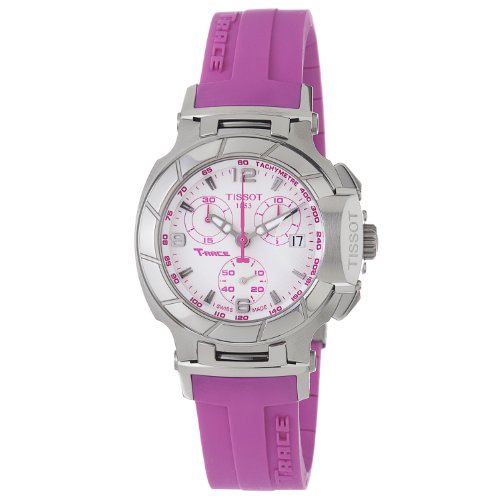 TISSOT T-RACE T0482171701701 LADIES PINK LEATHER STAINLESS STEEL CASE WATCH