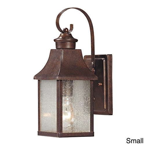 Siam Circus 'Town Square' Hazelnut Bronze Transitional 1-Light Outdoor Sconce front-180913