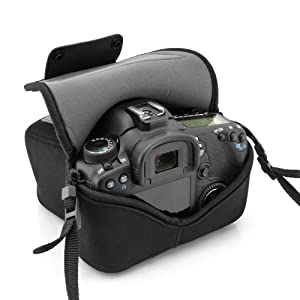 USA Gear FlexARMOR DuraNeoprene DSLR Sleeve Case for Canon EOS Rebel , Nikon , Sony Alpha , Pentax & more Digital SLR Cameras