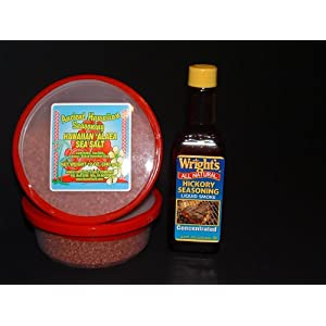 Click to buy Hawaiian Kalua Pig Kit (Two Hawaiian Salts and Liquid Smoke)from Amazon!