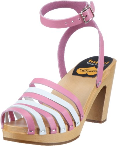 Swedish Hasbeens 399, Sandali donna, Rosa (Pink (Bubble gum pink)), 41