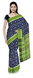 Laumunda Wcs Ltd Women's Cotton Saree with Blouse Piece (Blue and Green)