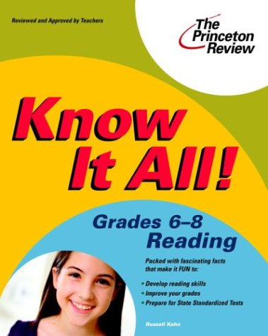 Know It All! Grades 6-8 Reading (K-12 Study Aids)