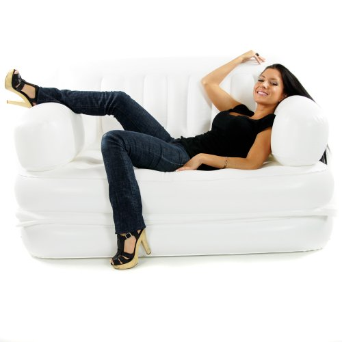 Smart Air Beds Inflatable Sofa Bed, Regal White, Full Size