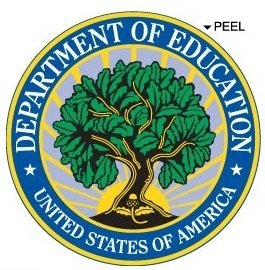 United States Us Department Of Education Seal Insignia - Window Bumper Laptop Sticker