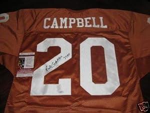 Earl Campbell Signed Jersey - Texas Longhorns Orange Custom HT 77 Heisman) -... by Sports+Memorabilia