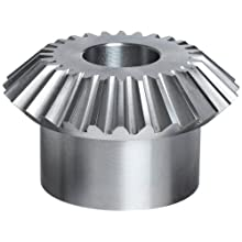 Boston Gear L Series Miter Gear, 1:1 Ratio, 20 Degree Pressure Angle, Straight Miter, Plain Bore, Steel