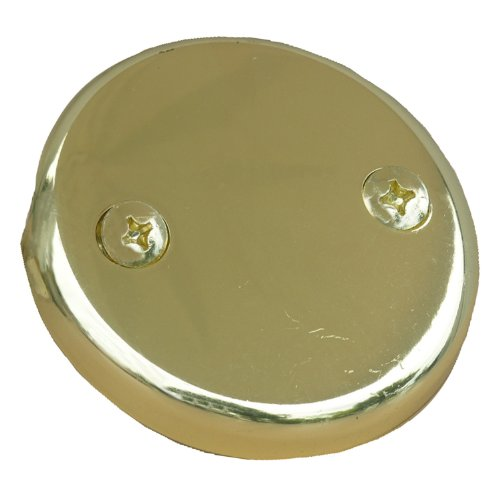 LASCO 03-1431 Two Hole Style Bathtub Waste And Overflow Plate, with Screws, Polished Brass (Tub Spout And Drain compare prices)