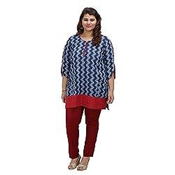 Damyantii Plus Size Short Indigo Kurti