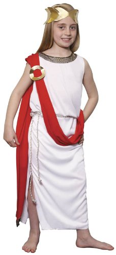 roman greek goddess childrens fancy dress costume large 9-12 150cm