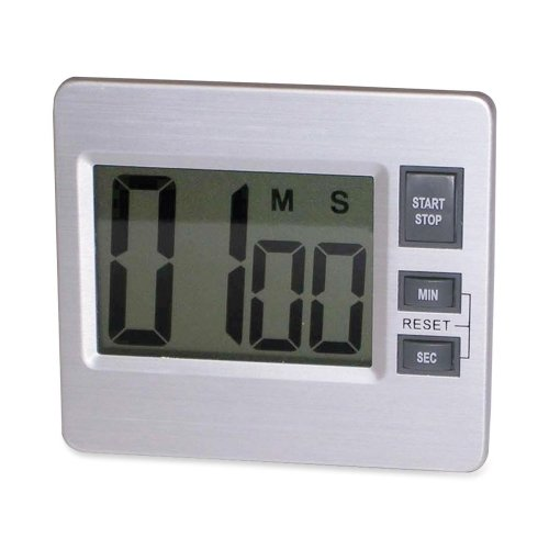 Tatco Products 52410 Digital Timer, 3-3/8 In.X3/4 In.X3 In., Silver/Black