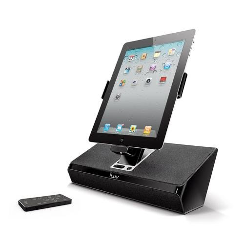 Iluv Imm727Blk Artstation Stereo Speaker Dock With Remote For The Apple Ipad 3-3G / Ipad 2 Wifi/3G Model 16Gb, 32Gb, 64Gb Est Model For Apple Iphone 4, Iphone 4S And Ipod Touch -Black