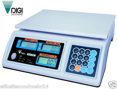 GundG verkaufswaage digi dS 700-15 15 kg homologuées commerciale x 5 g