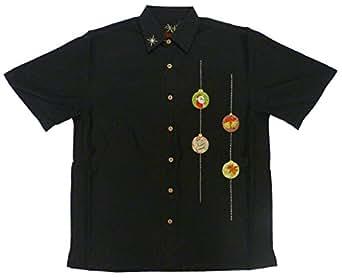 Bamboo cay mens santa ornament embroidered shirt at amazon for Bamboo button down shirts
