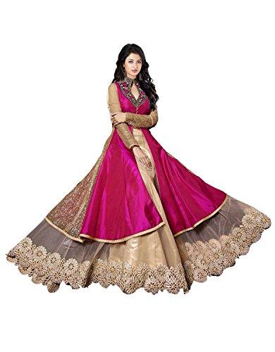 J-and-J-fashion-Womens-Net-Dress-Unstitched-JANDJFASHION1860pinkanarkalidressFreeSizePink