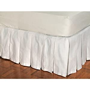 box pleat cotton bed skirt white 18